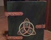 SALE Magical Triquetra style Book of Shadows ,Spell book, journal