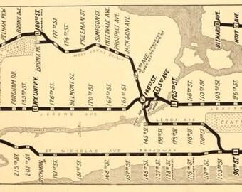 New York Subway Map 1918