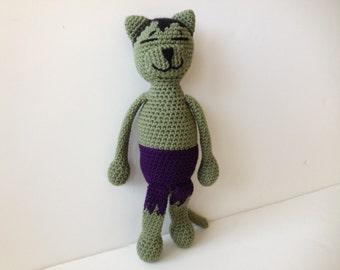 Amigurumi Kitty Ring Holder : Lip Balm Holder PINK Hello Kitty Button Crochet by pigswife