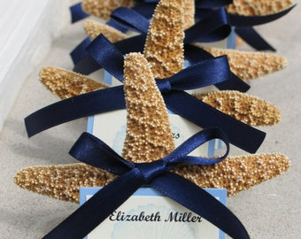 Beach Wedding Decorations Sugar Starfish Favors Placecards Table Assignments Choose Your own Colors