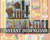 CLEARANCE Spring and Easter Tags, Favors, Bookmarks and Lip Balm Labels - INSTANT DOWNLOAD Printable