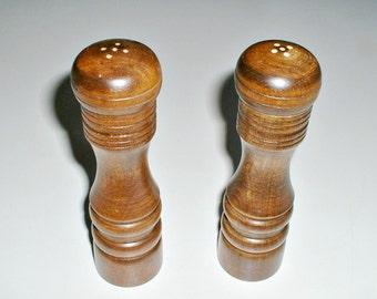 Vintage Wooden Shakers Set  Salt  and Pepper With Original Box Japan
