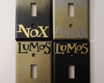 LAST CHANCE!!! Lumos Nox Gold Standard Light Switch Plate - DeeplyDapper Spells