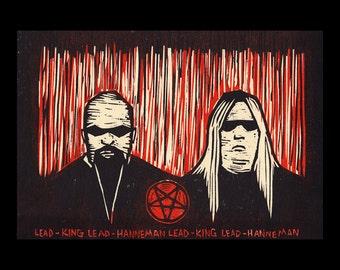 Lead King, Lead Hanneman woodcut
