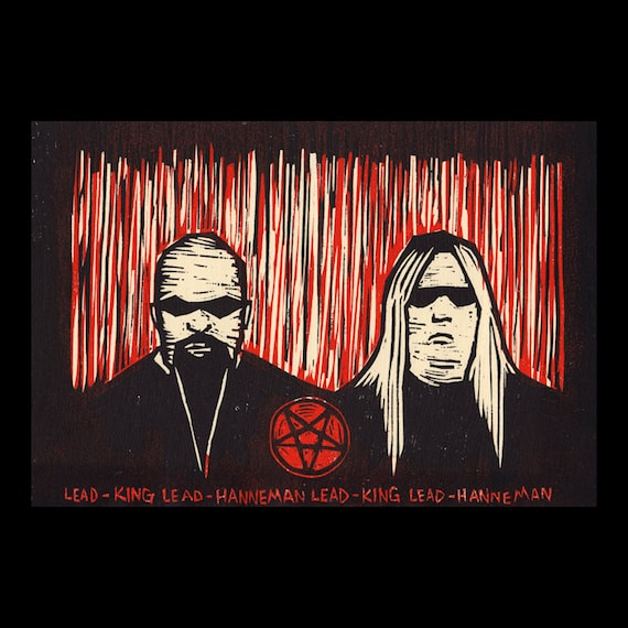 Lead King, Lead Hanneman woodcut