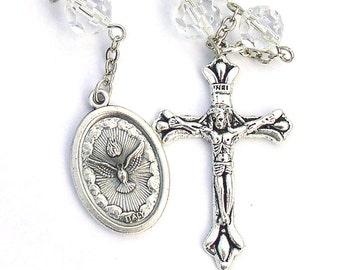 Holy Spirit One Decade Mini Catholic Rosary Clear