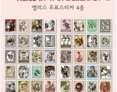 80 kinds Korea DIY Picture Stickers Paper Stamps Small Stickers - Alice In Wonderland
