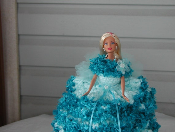 BARBIE Doll / toilet paper doll/ light turquoise