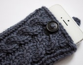 Slate Gray Double Cable Knit Phone Case (iPhone 3/4/4S/5/5S/5C/6/6+/7/7+)