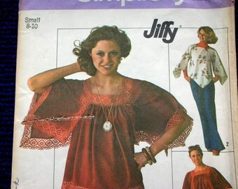 Pullover Top Pattern Uncut Jiffy easy to make. Sewing Pattern Angel Sleeves