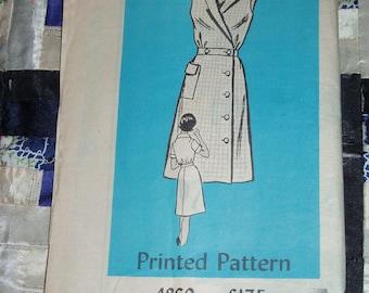 Vintage 1960s Mail Order Designer Pattern 4860 for Misses Dress Sizes 14 1/2, Factory Folds
