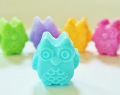 30 BULK OWL SOAPS - Choose Scent & Color, diy party favors, baby shower, birthday, bridal, wedding, owls