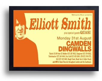 Elliott Smith Framed Gig Poster Print