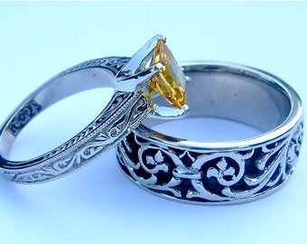CUSTOM WEDDING RINGS By BentJewelryDesign