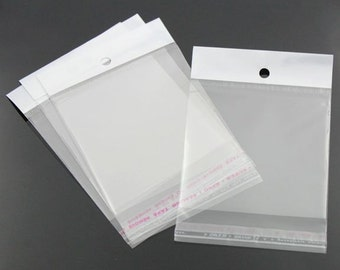 100 Cellophane Bags 110mm x 70mm Self Adhesive Seal - TL12