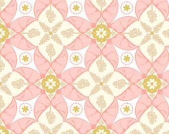 Riley Blake, Calliope, Nursery Fabric, Pink Fabric, Scroll in Pink, Cotton Fabric, Half Yard