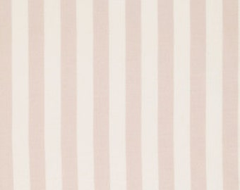 Fabric by the Yard, Annette Tatum, Cotton Fabric, Cabana Stripe in Khaki, Bouquet, 34 Inches