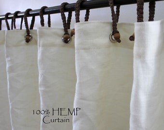 Organic Hemp shower curtain full size