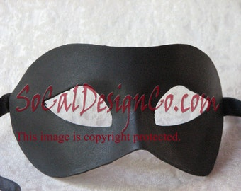 Simple Black Masquerade Mask