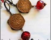 O Canada, Vintage Canadian Copper Penny Earrings