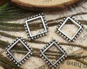 20pcs of Antique Silver rhombus Connector Charms Bracelet Connectors Pendant 15x18mm