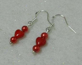 Valentine Earrings Petite Valentine Earrings Tiny Earrings