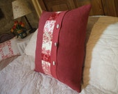 "ANTIQUE FRENCH LINEN  pillow 22"" x 22""antique french toile de jouy pillow French linen"