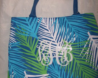 Personalized Palm Leaves Weekender Essential Tote SALE, Beach Tote, Market Tote, GIFT WRAPPED