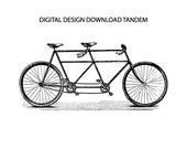 Tandem Vintage Bike Art Digital Download