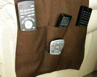 TV Remote Control Organizer Caddy 6 pocket Dark Brown