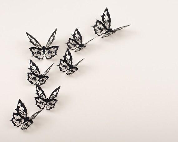 3D Wall Art Wall Butterflies Ornate Gothic Decor 10 Darkwing