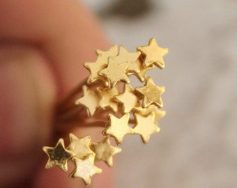 50pcs Nickel Free - 30mm Long Gold Star End Headpins   -( JUR-218)