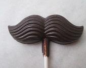 Chocolate Mustache Lollipop Dark Chocolate 70% Cacao from Marthas Vineyard Enchanted Chocolates