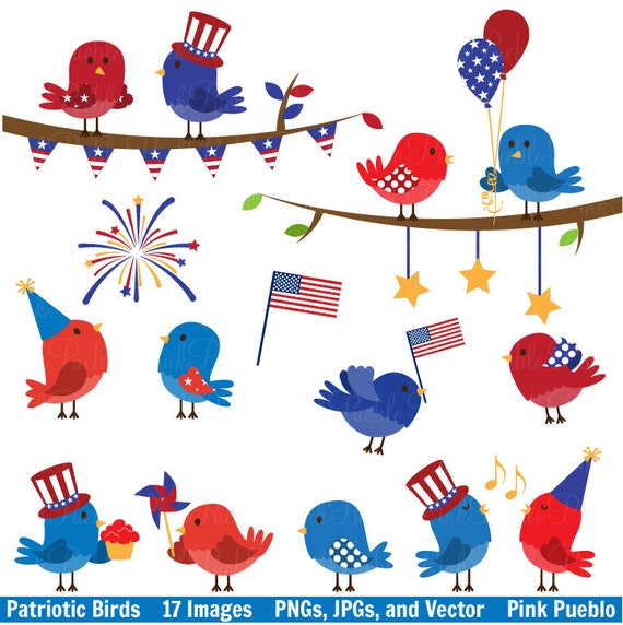 May The 4th Be With You Clip Art: Fourth Of July Birds Clipart Clip Art 4th Of July