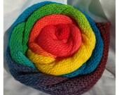 Long gradient ombré fingering sock yarn - 100g - Rainbow Skittles