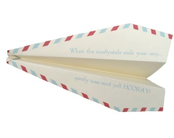 Unique Custom Wedding / Reception Sendoff / Exit - Throw Airplanes! - Set of 75