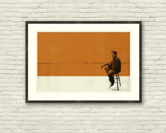 MEMPHIS CASH - Johnny Cash 30 x 20 Handprinted Silkscreen Art Print, Modern Poster, Vintage Style