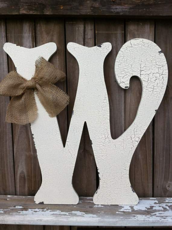 Wooden Letter W 24 Tall Any Letter A Z Vintage By Vintageshore