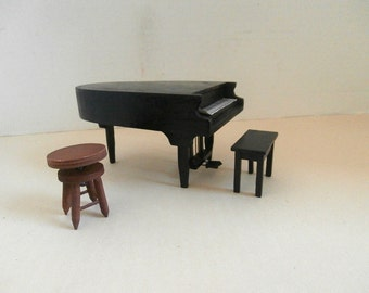 Doll House Piano Stool Bench Furniture