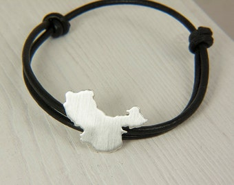 China adoption bracelet China bracelet Sterling silver bracelet china jewelry bracelet map