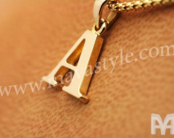 Gold Letter of Choice Pendant