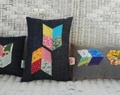 set of three mini pillows