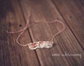 Floral Lace tie back headband