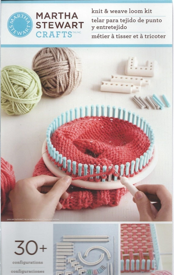 Items similar to martha stewart crafts knit weave loom for Martha stewart crafts knit weave loom kit