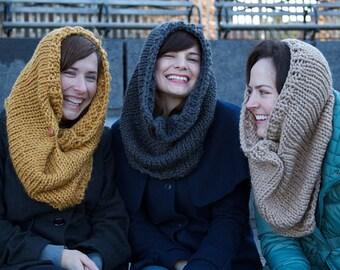 Beginner Knitting Pattern Cowl Infinity Scarf - Easy Simple