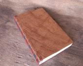 Handmade Journal Reclaimed Redwood Wood Book Rustic Wedding Guest Book  fall wedding  -ready to ship