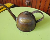 Vintage Eagle Mfg Teapot Style Oil Can Brass Labeled Turbine Oil