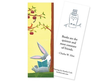 Reading Bunny Bookmark ~ Librarian or Teacher Gift