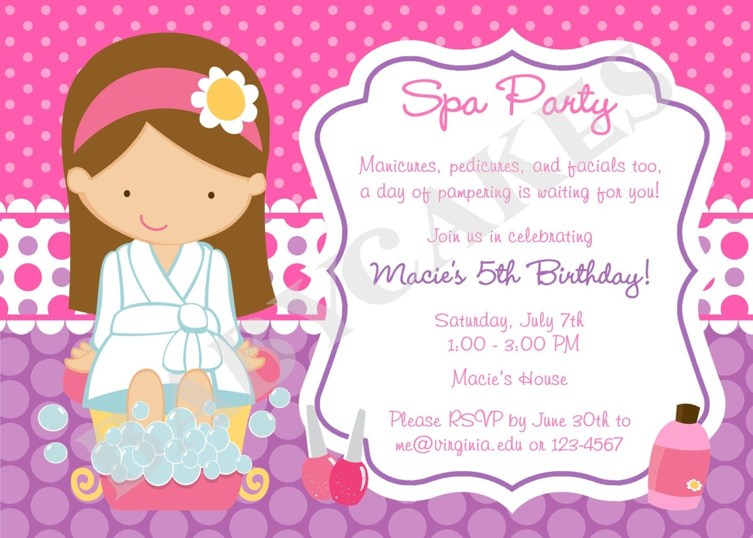 Mary kay invitation template best printable invitation design spa party birthday invitation invite spa birthday spa invite stopboris Choice Image