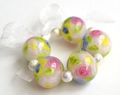 Lampwork Beads - Secret Garden Rounds Encased